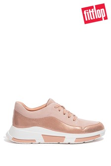FitFlop Nude Freya Suede Trainers