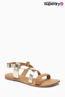 Superdry Gold Tan Serenity Flat