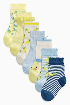 Lemon Socks Seven Pack (Younger)