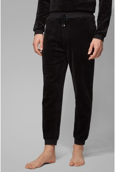 BOSS Black Velour Logo Joggers