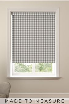 Gingham Granite Grey Made To Measure Roller Blind