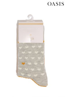 Oasis Natural Heart Socks Two Pack