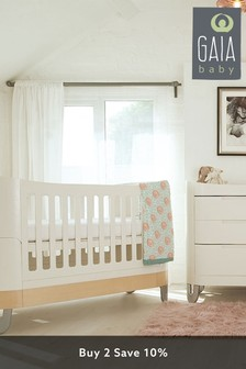 Gaia Baby Complete Sleep+ Mini And Dresser Set White