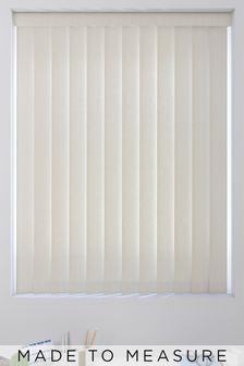 Textured Beige Cream Made To Measure Vertical Blind