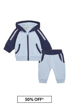 Timberland® Baby Boys Blue Cotton Tracksuit