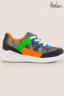Boden Green Colourblock Trainers
