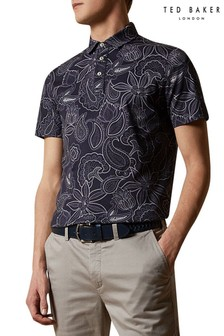 Ted Baker Fright Short Sleeved Paisley Printed Polo