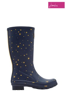 Joules Blue Roll Up Wellies