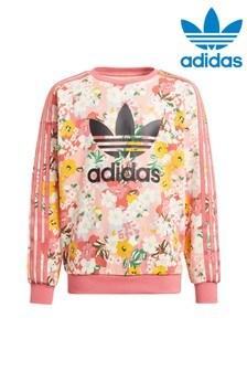 adidas Originals Floral Crew Neck Sweater