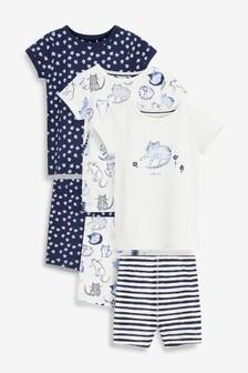 3 Pack Cat Short Pyjamas (9mths-8yrs)