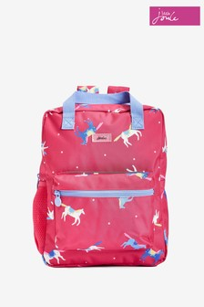 Joules Pink Easton Printed Rucksack