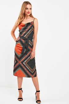 Scarf Print Cami Dress