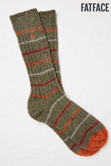 FatFace Green Stripe Mallory Socks