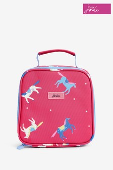 Joules Pink Munch Printed Lunch Bag
