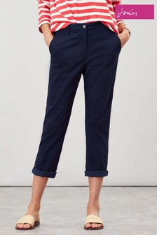 Joules Blue Hesford Crop Chinos