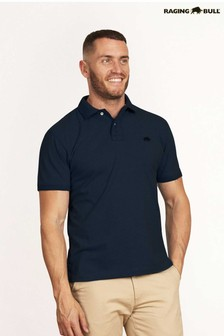 Raging Bull Blue Signature Jersey Polo