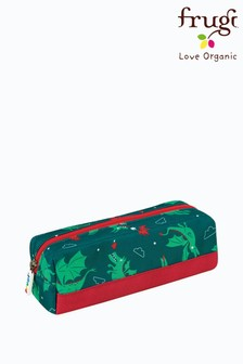 Frugi Green Recycled Dragon Print Pencil Case