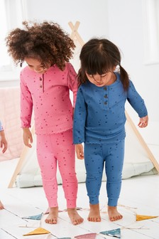 2 Pack Star Rib Pyjamas (9mths-12yrs)