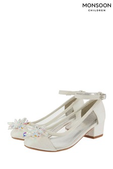 Monsoon Children Ivory Sparkle Crystal Princess Shoes