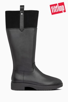 FitFlop™ Black Signey Mixte Knee-High Boots