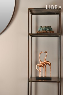 Libra Abstract Giraffe Sculpture In Rose Gold