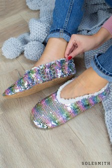 Two Tone Sequin Slippers by Solesmith