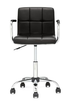 Cube Home Office Chair In Black Faux Leather