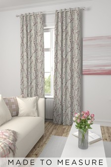 Delicate Willow Print Made To Measure Curtains
