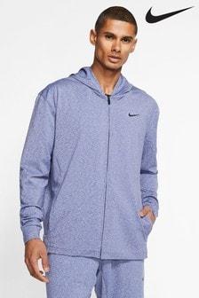 Nike Dri-FIT Blue Zip Through Yoga Training Hoody