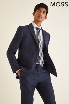 Moss London Skinny/Slim Fit Blue Twisted Suit