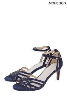 Monsoon Blue Hatty Heatseal Occasion Sandals