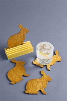 Set of 4 Hare Coasters