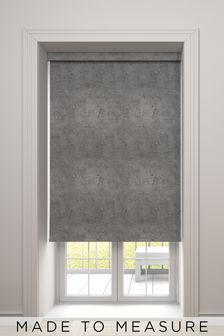 Crackle Ink Black Made To Measure Roller Blind