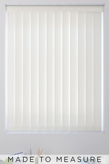 Textured Chalk White Made To Measure Vertical Blind