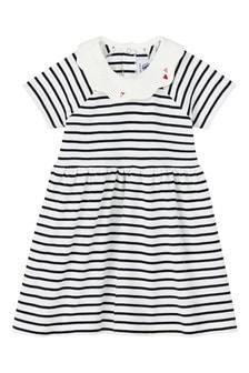 Petit Bateau White/Navy Stripe Dress