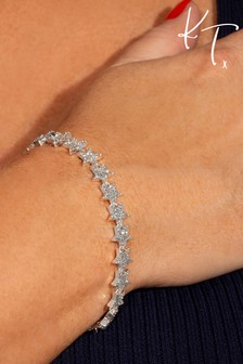Kate Thornton 'Sparkling Stars' Silver Occasion Bracelet