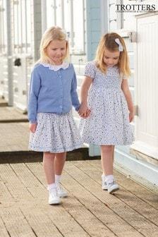 Trotters London Blue Catherine Poppy Skirt