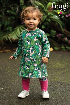 Frugi Organic Reversible Dress With A Panda Character