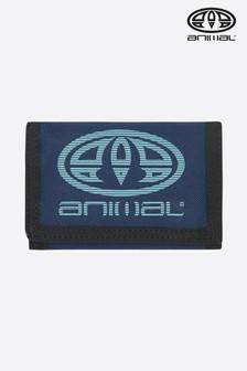 Čierna látková trikrát skladacia peňaženka Animal