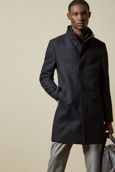 Ted Baker Navy Funnel Coat