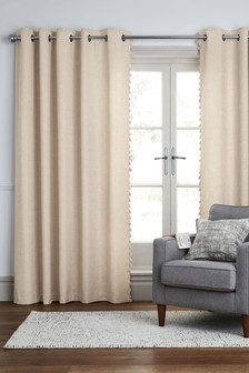 Tassel Edge Eyelet Lined Curtains