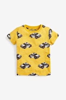 Short Sleeve Police Car T-Shirt (3mths-7yrs)