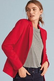 Jersey Single Breasted Jacket