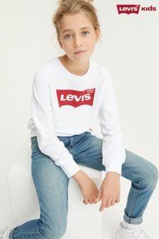Levi's® Kids White Batwing Logo Sweatshirt