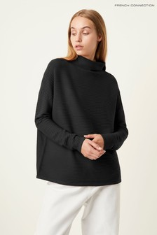 French Connection Green Lena High Neck Jumper