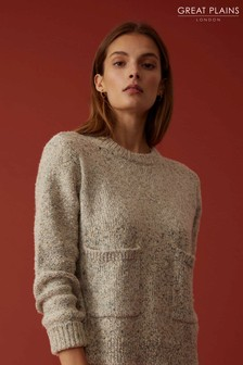Great Plains Grey Lys Knit Round Neck Jumper