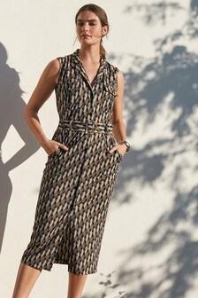 Pocket Belted Dress