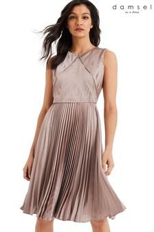 Damsel In A Dress Pink Zoey Pleated Dress