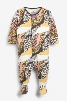 Animal Print Sleepsuit (0mths-2yrs)
