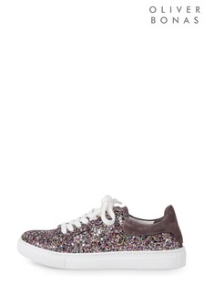 Oliver Bonas Multi All Over Glitter Trainers